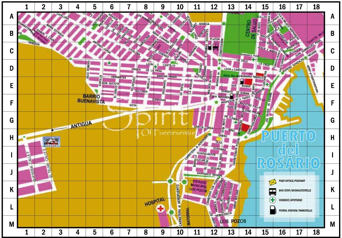 Street Map Pto del Rosario Fuerteventura